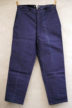 mid 20th c. blue moleskin work trousers