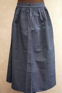 cir.1910's-1930's indigo striped apron dead stock