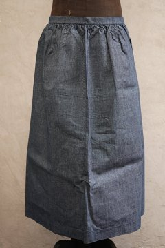 ~1930's indigo cotton apron dead stock