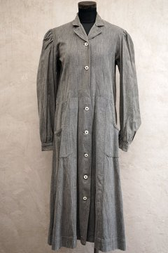 1930's salt & pepper cotton work dress/coat