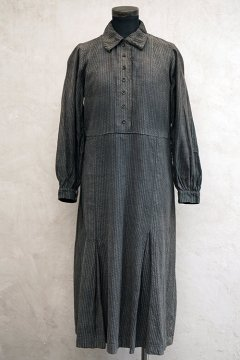 1930's striped cotton work dress
