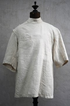 cir.1940's French military linen S/SL medical top