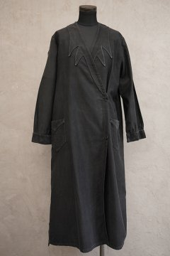 ~1930's black work wrap coat / dress