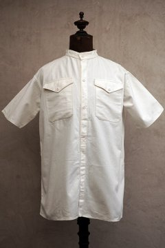 cir. 1930's white cotton S/SL shirt