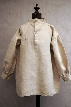 ~1940'sFrench military pullover bourgeron linen top