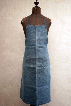 ~1930's indigo linen apron