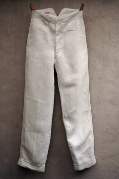 early 20th c. white linen trousers