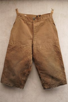 early 20th c. brown linen over pants