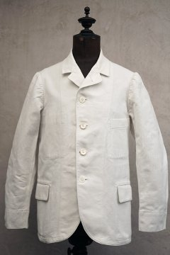 early 20th c. white cotton sack coat