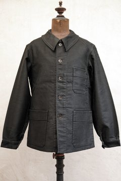 1940's black moleskin work jacket