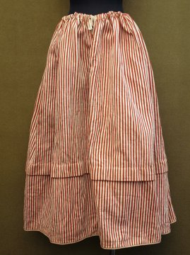 19th c. red striped skirt