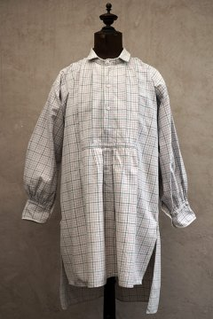 early 20th c. checked cotton shirt