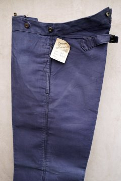 1930-1940's blue moleskin work trousers dead stock