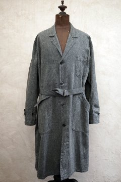 mid 20th c. salt&pepper atelier coat