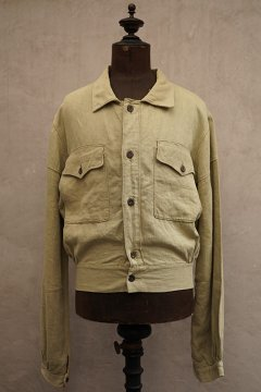 cir.1940's herringbone linen short jacket