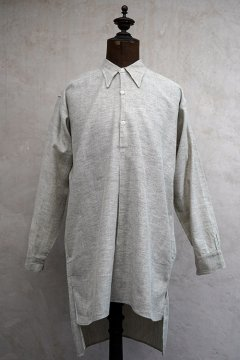1930's gray cotton shirt dead stock