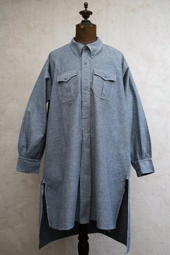 cir.1930's-1940's blue salt&pepper work shirt 2 pocket
