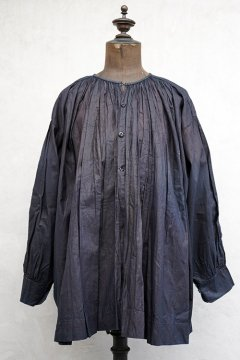 early 20th c. linen × cotton indigo smock / biaude