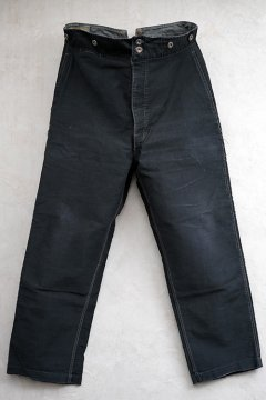 1930's-1940's black moleskin work trousers