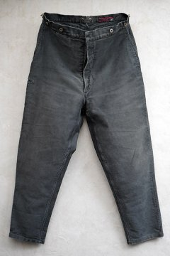 1940's black moleskin work trousers