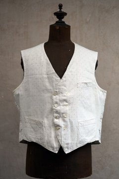 early 20th c. double breasted white gilet