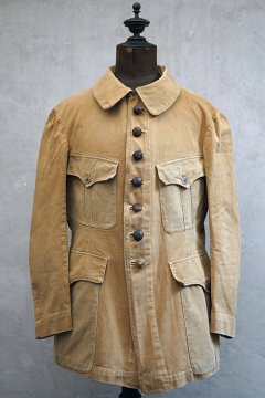 1910's-1920's beige cotton jacket