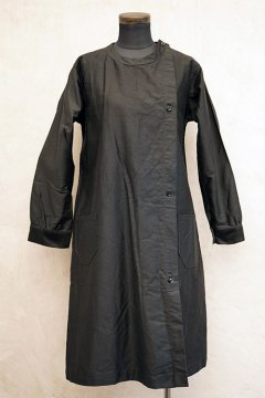 ~1930's dead stock black work coat/ dress