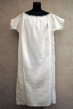 19th c. linen dress S/SL