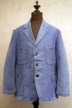 1930's-1940's blue moleskin 4 pockets jacket
