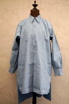 1930's-1940's indigo cotton shirt dead stock