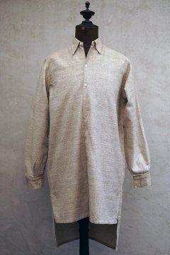 1930-1940's brown beige shirt dead stock