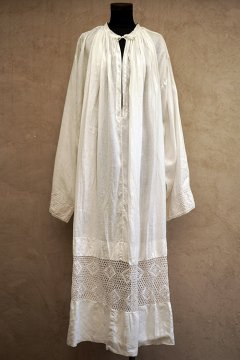 early 20th c. linen church smock