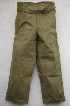 1940's French military motorcycle overpants dead stock
