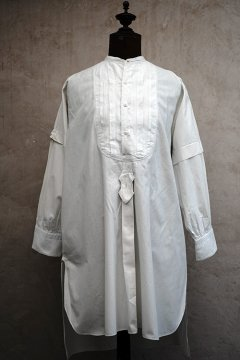 early 20th c. white embroidered dress shirt