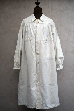 early 20th c. linen work coat/smock