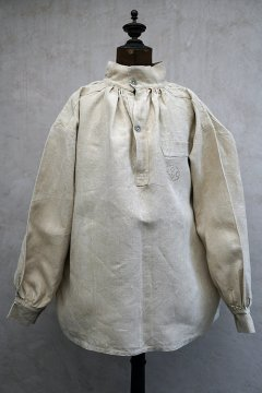 ~1940's French military pullover bourgeron linen top