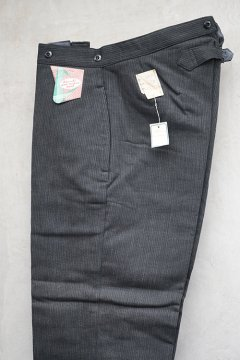 1940's gray pique work trousers dead stock