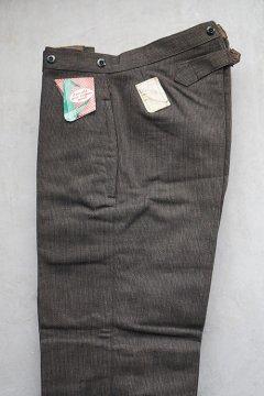 1940's brown salt&pepper pique work trousers dead stock