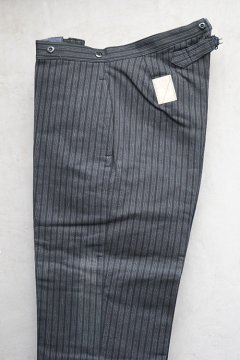 1940's gray striped pique work trousers dead stock