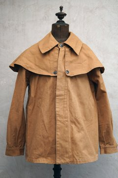 cir.1940's brown cape jacket dead stock