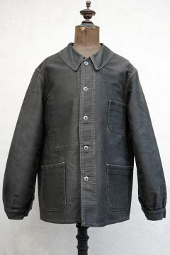 1940's-1950's black moleskin work jacket