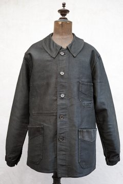 1930's-1940's black moleskin work jacket