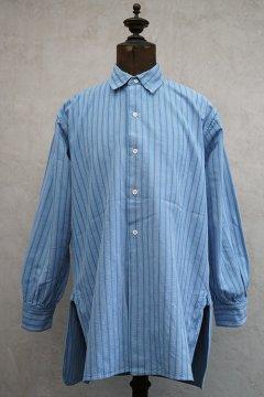 1940's blue striped cotton shirt dead stock