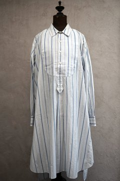 early 20th c. blue striped cotton shirt