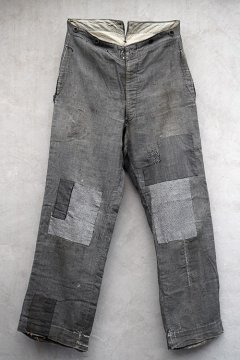 early 20th c.gray checked work trousers