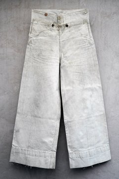 cir. early 20th c. linen sailor trousers