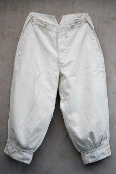 ~1930's striped white cotton plus fours