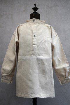 ~1940's French military pullover linen top dead stock