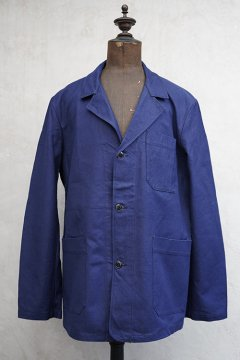 mid 20th c. blue cotton work jacket dead stock