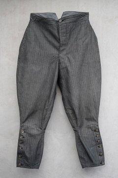 ~1930's gray striped cotton jodhpurs
